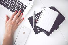 woman, hand, smartphone, desk
