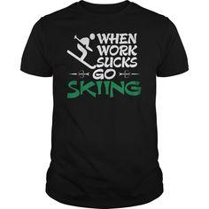 Skiing T-Shirts, Hoodies. GET IT ==► https://www.sunfrog.com/Hobby/Skiing-134233396-Black-Guys.html?id=41382