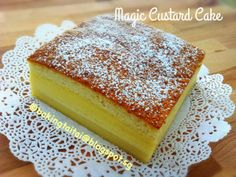 Truly a magical cake, one batter that bakes into 3 different layers of texture! You got to try it to believe it!