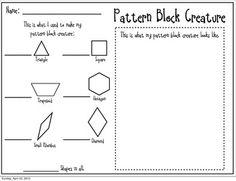 PATTERN BLOCK FREEBIE - TeachersPayTeachers.com