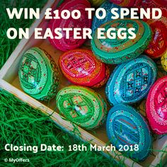 UK Only MyOffers is giving you the chance to win of chocolate Easter Eggs. Gig Tickets, Shopping Vouchers, Easter Chocolate, Giving, Easter Eggs, Competition, Seasons, Drink, Free