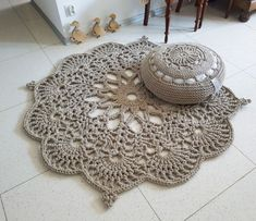 Floor Rug Crochet Rug Carpet, Floor Mat Rug Carpet, Area Rug Decorative Rug Knitting PatternsKnitting For KidsCrochet PatternsCrochet Bag Diy Tricot Crochet, Crochet Doily Rug, Crochet Carpet, Crochet Rug Patterns, Crochet Motifs, Crochet Home, Crochet Flowers, Free Crochet, Carpet Flooring