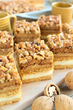 Dessert Cake Recipes, Sweet Desserts, Cookie Recipes, Delicious Desserts, Walnut Cake, Sweet Cakes, Savoury Cake, Cupcake Cakes, Food And Drink