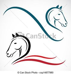 Image result for abstract horse black and white