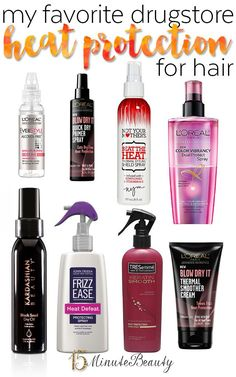 Great Drugstore Heat Protectants for Hair, no more fried hair!