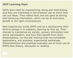 ISFP Learning Style