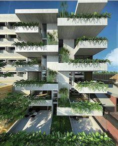 """1,929 Me gusta, 16 comentarios - Arquitetura Sustentável ♻️ (@arquitetura_sustentavel) en Instagram: """"Varanda verde Inspiração do dia  #pinterest #greenery #arquitetura_sustentavel"""""""