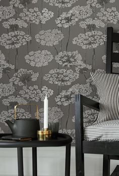 This modern wallpaper option will be your new best friend! A fun floral print that's happy and fresh helps you create a perfect stylish living space. Decor, Tree Wallpaper, Home Decor Decals, Grey Wallpaper, Wall Murals, Cheap Home Decor, Home Decor, Modern Wallpaper, Wallpaper Samples