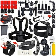 Erligpowht Basic Common Outdoor Sports Kit Ultimate Combo Kit 40 accessories for GoPro HERO 4/3/3/2/1
