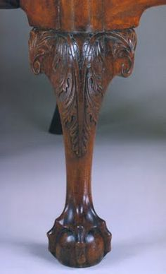Here S Some Beautiful Chippendale Leg Detailing Note The Ball And Claw Foot Cabriole Furniture Legswooden