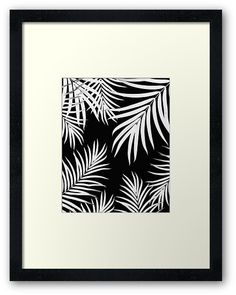 """Palm Leaves Pattern Summer Vibes #4 #tropical #decor #art"" Framed Prints by anitabellajantz 
