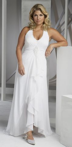 For a vow renewal ! Halter neck wedding dresses by Aurora Paradiso! I LOVE this!