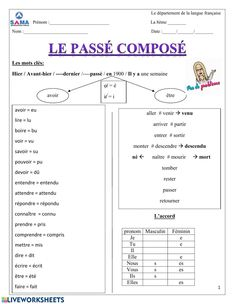 French Verbs, French Grammar, French Phrases, French Language Lessons, French Lessons, How To Speak French, Learn French, French Prepositions, High School French