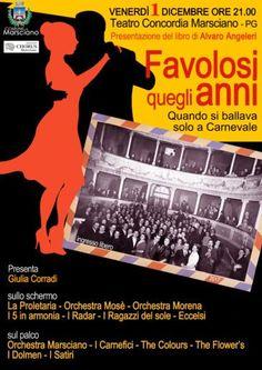"""Marsciano, presentazione del libro di Alvaro Angeleri """"Favolosi quegli anni"""""""