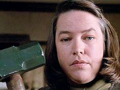 """Villana de película Annie Wilkes (Kathy Bates), en """"Misery""""."""