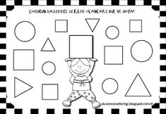 """Training and development of children - """"Fidget"""" Shapes Worksheet Kindergarten, Shapes Worksheets, In Kindergarten, Senses Activities, Math Activities, Training And Development, Dark Souls, Coloring For Kids, Karma"""
