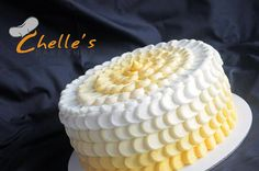 Yellow ombre cake. THIS IS SO STANKIN' CUTE! This would be adorable for a baby shower