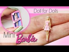 Miniature Barbie Tutorial.  1:12 DIY Dollhouse scale doll.  YouTube video by SugarCharmShop.