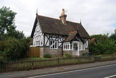 Half timbered and half stone houses