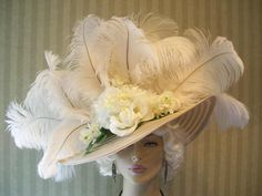 Edwardian hat- the difference between victorian and Edwardian hats is that Edwardian hats have huge wide sweeping brims ala my fair lady and the titanic era.