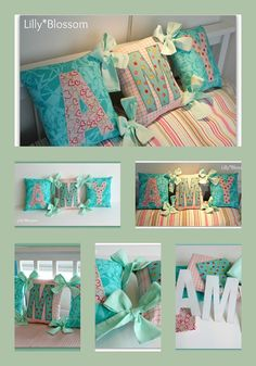 Cute pillow headboard!