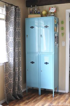 Ikea Lockers, Delineate Your Dwelling, I think these have been discontinued, but I really like this color inspiration