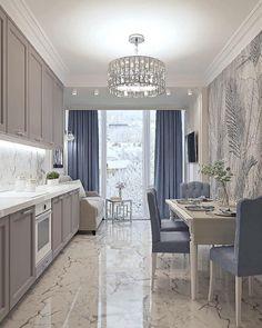Living Room And Kitchen Design, Home Room Design, Home Decor Kitchen, Interior Design Kitchen, Home Living Room, Warm Home Decor, Home Comforts, Cuisines Design, Küchen Design