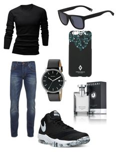 """Aiden Smith"" by avakin-chaselle on Polyvore featuring wizikorea, Scotch & Soda, NIKE, Skagen, Lacoste, Marcelo Burlon, Bulgari, men's fashion and menswear"
