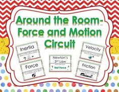 FREE!!!  Engage your students with this Around the Room Force and Motion Circuit Activity.  This activity contains 21 questions and answers.  Circuits are great for review and rotations to get your students up and moving!  Topics included are:  -Calculati