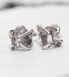 Natural Herkimer Sterling Silver Earrings