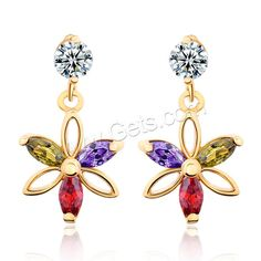 Nice Earring, Flower, 18K gold plated, more choices please enter our website.
