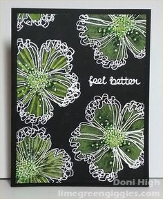 F4A371 green flowers by donidoodle - Cards and Paper Crafts at Splitcoaststampers