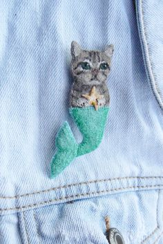 Mer Cat Brooch - I'm not a biiig fan of cats, but I really like this brooch :)