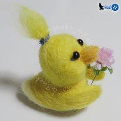 羊毛フェルトのヒヨ子さん  #羊毛フェルト  #鳥 #ひよこ