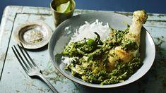 Chicken with spinach recipe - BBC Food Healthy Curry Recipe, Curry Recipes, Spinach Recipes, Chicken Recipes, Gluten Free Rice, Spinach Stuffed Chicken, Garam Masala, Coriander, Palak Paneer