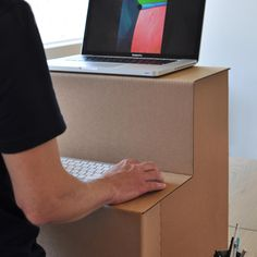 Oristand, affordable standing desk made of industrial cardboard and foldable! available in Canada and USA only for now