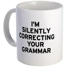 Gifts for the English teacher: I'm Grammar Mug