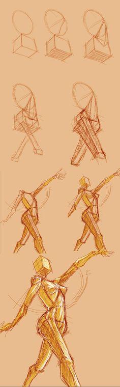 Anatomy Warmup :process: by FOERVRAENGD.deviantart.com on @DeviantArt