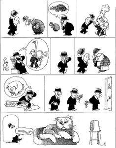 Quino - gato y ratón