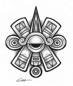 "Ollin. Aztec glyph symbol of ""centered"" Eye or Third Eye ..."