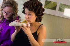 The bride getting her pre-wedding grub on. #wedding #idaho #northwest  #family #pizza #prepwork
