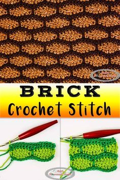 Learn how to crochet the Brick Crochet Stitch using this detailed Photo and Video Tutorial. You can also change the color or make the bricks, that look like roof tiles also, to make them bigger or smaller. This stitch is ideal for blankets, house walls or rooftops, hats, scarves, and more. #crochet #crochetstitch #crochettutorial #crochetpattern #freecrochetpattern #crochetbrick #brickcrochet #brickcrochetstitch #brickcrochetblanket #brickblanket #brickscarf #brickwall #rooftoptiles