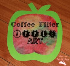 Coffee Filter Apple Art for Kids