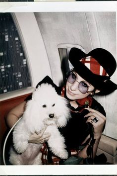 Barbra and the original Sadie!