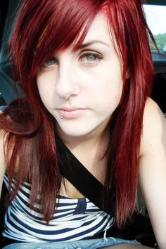 Emo Hairstyles | emo+hairstyles+for+girls+with+long+hair-red+EMO+hairstyles.jpg