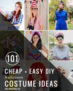 101 Cheap + Easy DIY Halloween Costume Ideas | HelloNatural.co