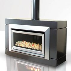 Contemporary Freestanding Fireplace from Max Blank, Model: Nestor ...