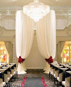Indoor Wedding Arch Ideas | Indoor Shabby Chic Arch Decorations Archives | Weddings Romantique