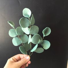 Felt Eucalyptus Build your own Bouquet Felt Flowers A La