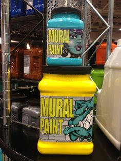 Chroma Mural Paint - 16 oz Calypso and 1/2 gallon of Scorched